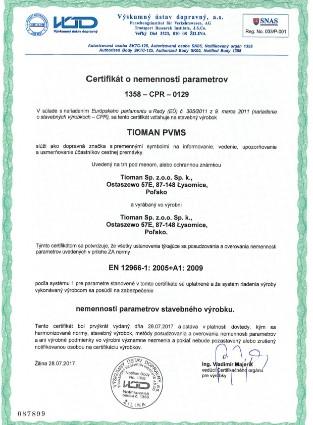 Certificate 1358 CPR 0129 Tioman PVMS EN